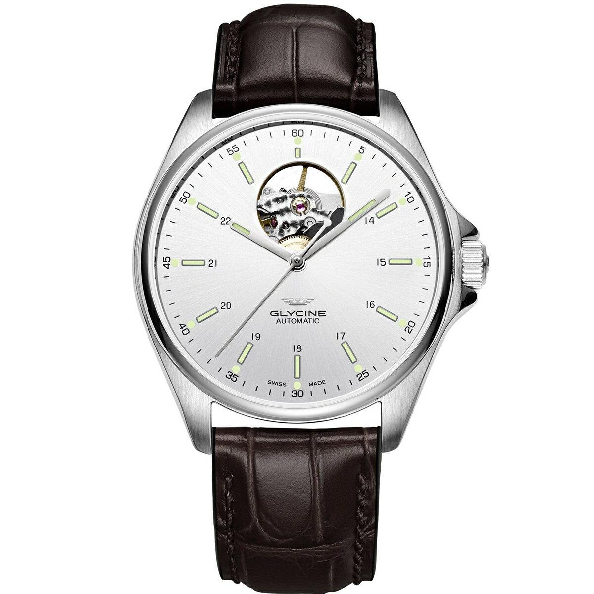 グライシン グリシン GLYCINE コンバット クラシック オープンハート COMBAT OPEN HEART GL0120 メンズ 時計 腕時計 自動巻き オートマチック スイス製 スイスメイド パイロット