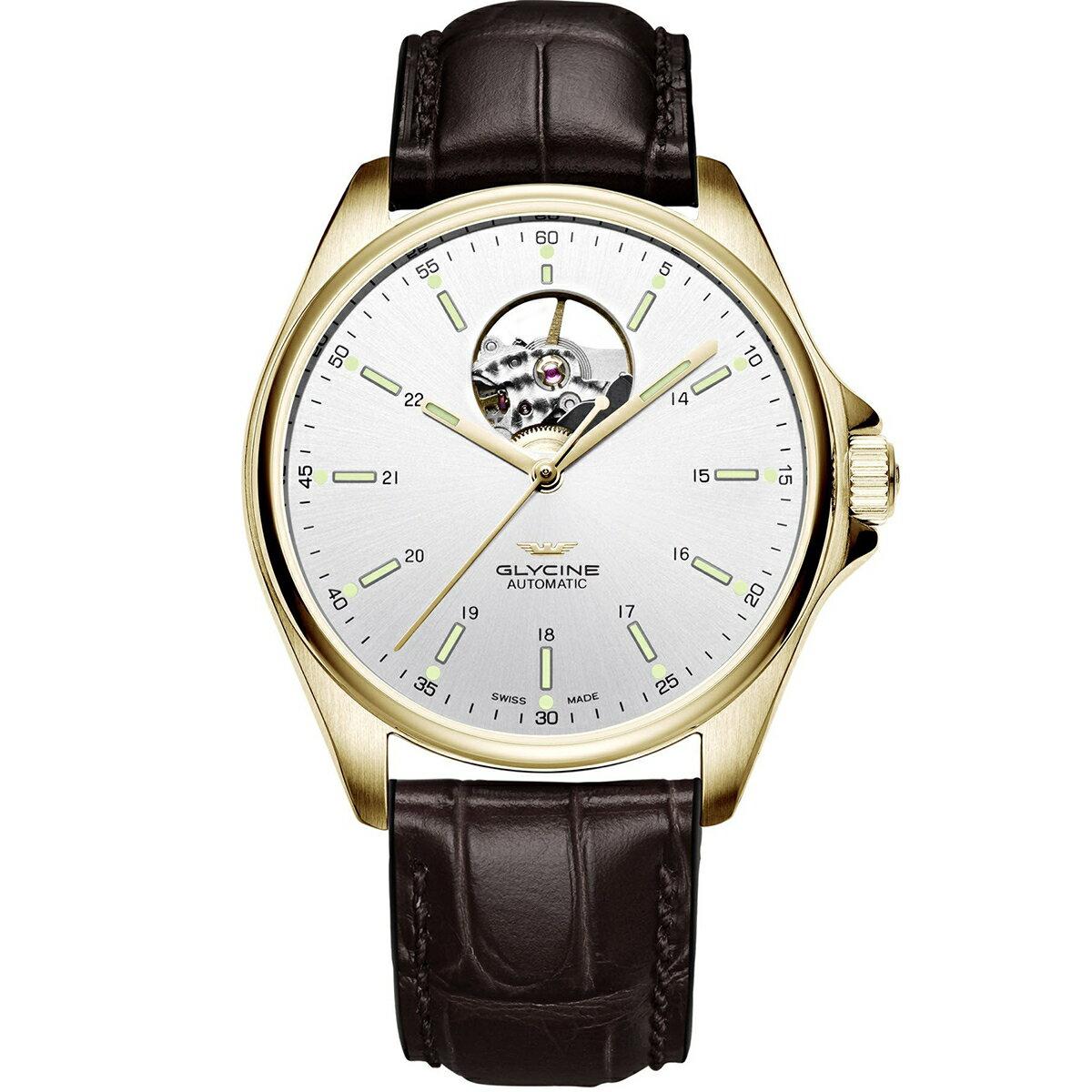 グライシン グリシン GLYCINE コンバット クラシック オープンハート COMBAT OPEN HEART GL0121 メンズ 時計 腕時計 自動巻き オートマチック スイス製 スイスメイド パイロット