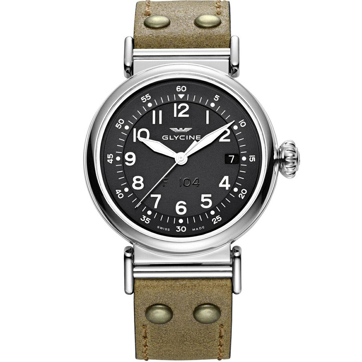 グライシン グリシン GLYCINE F104 40 GL0129 メンズ 時計 腕時計 自動巻き オートマチック スイス製 スイスメイド パイロット