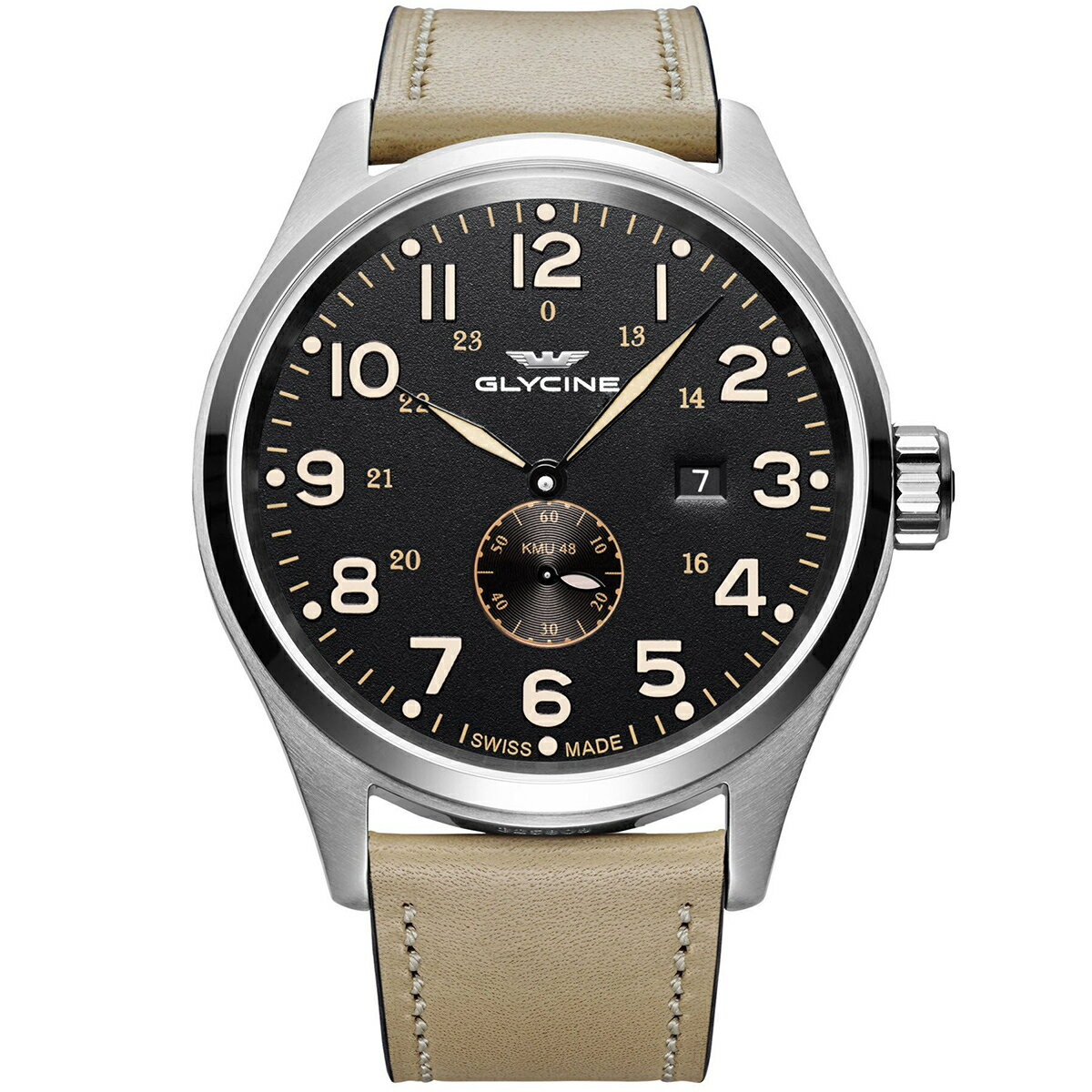 グライシン グリシン GLYCINE KMU GL0132 メンズ 時計 腕時計 自動巻き オートマチック スイス製 スイスメイド パイロット