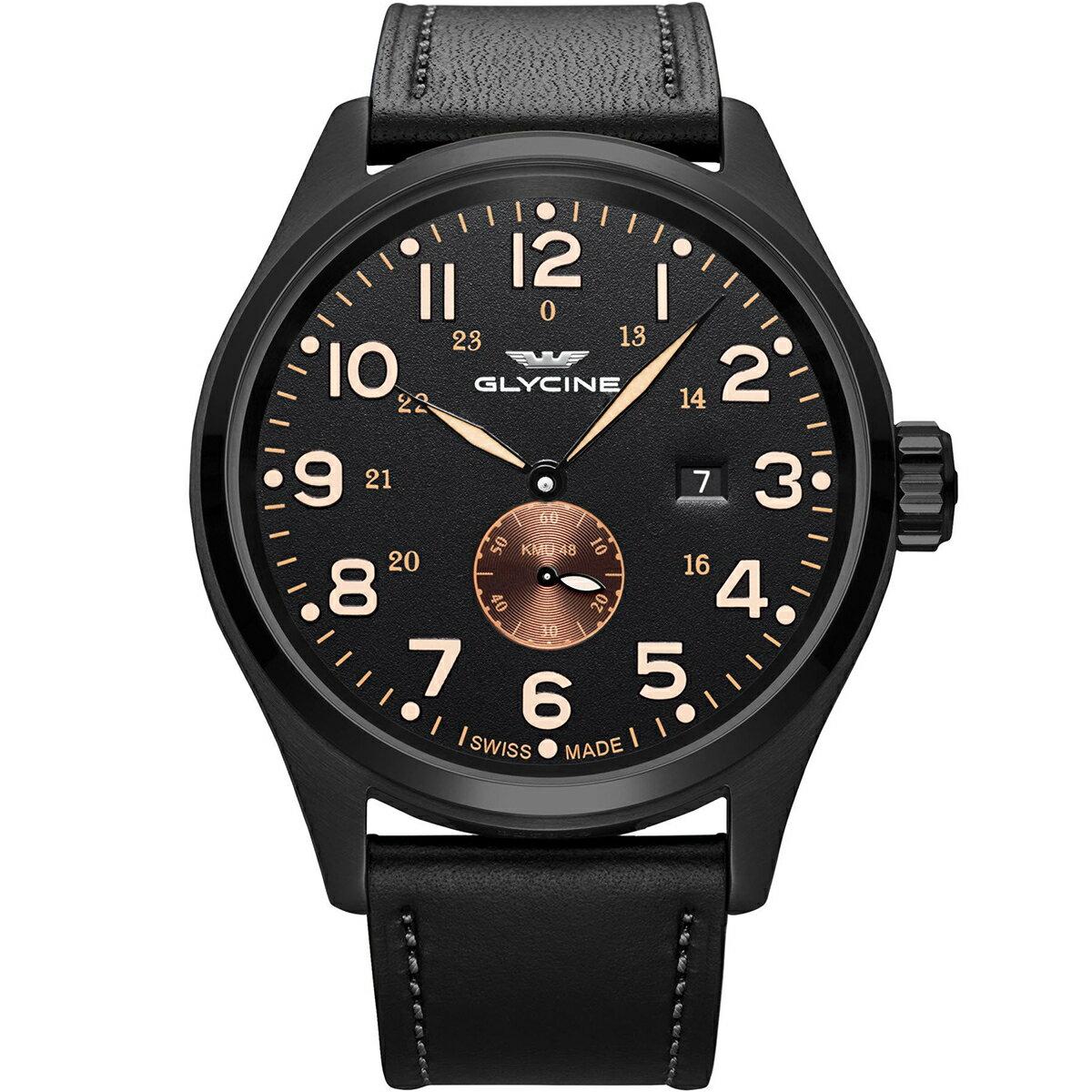 グライシン グリシン GLYCINE KMU GL0133 メンズ 時計 腕時計 自動巻き オートマチック スイス製 スイスメイド パイロット