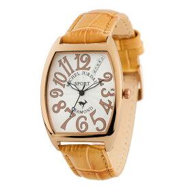 【全品送料無料】 ミッシェル・ジョルダン MICHEL JURDAIN トノー型ダイヤモンド SG-1100-3 ユニセックス 時計 腕時計 クオーツ