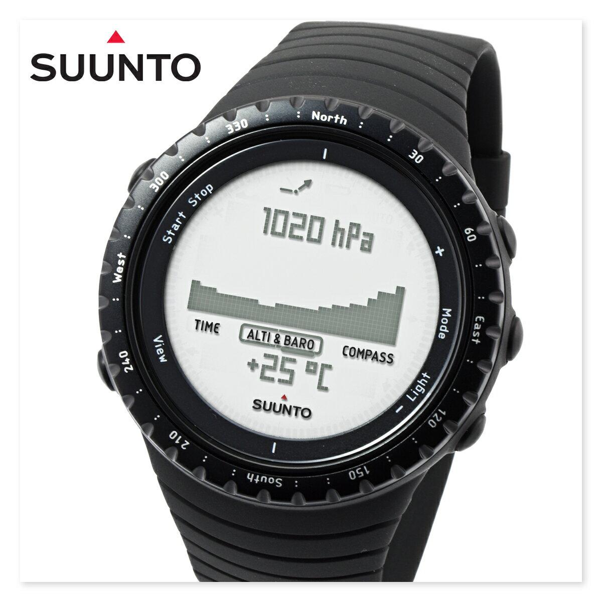 【定価より56%off】SUUNTO スント SS014809000 コア レギュラー ブラック CORE REGULAR BLACK スントコア メンズ レディース 時計 腕時計 山岳 登山 トレッキング ハイキング[あす楽]