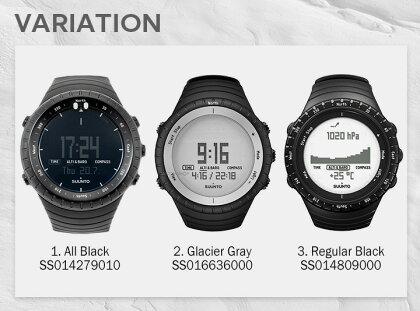 【最安値挑戦中!】SUUNTOスントオールブラックSS014279010SS016636000SS014809000AllBlackGlacierGrayRegularBlackスントコア時計腕時計[あす楽]