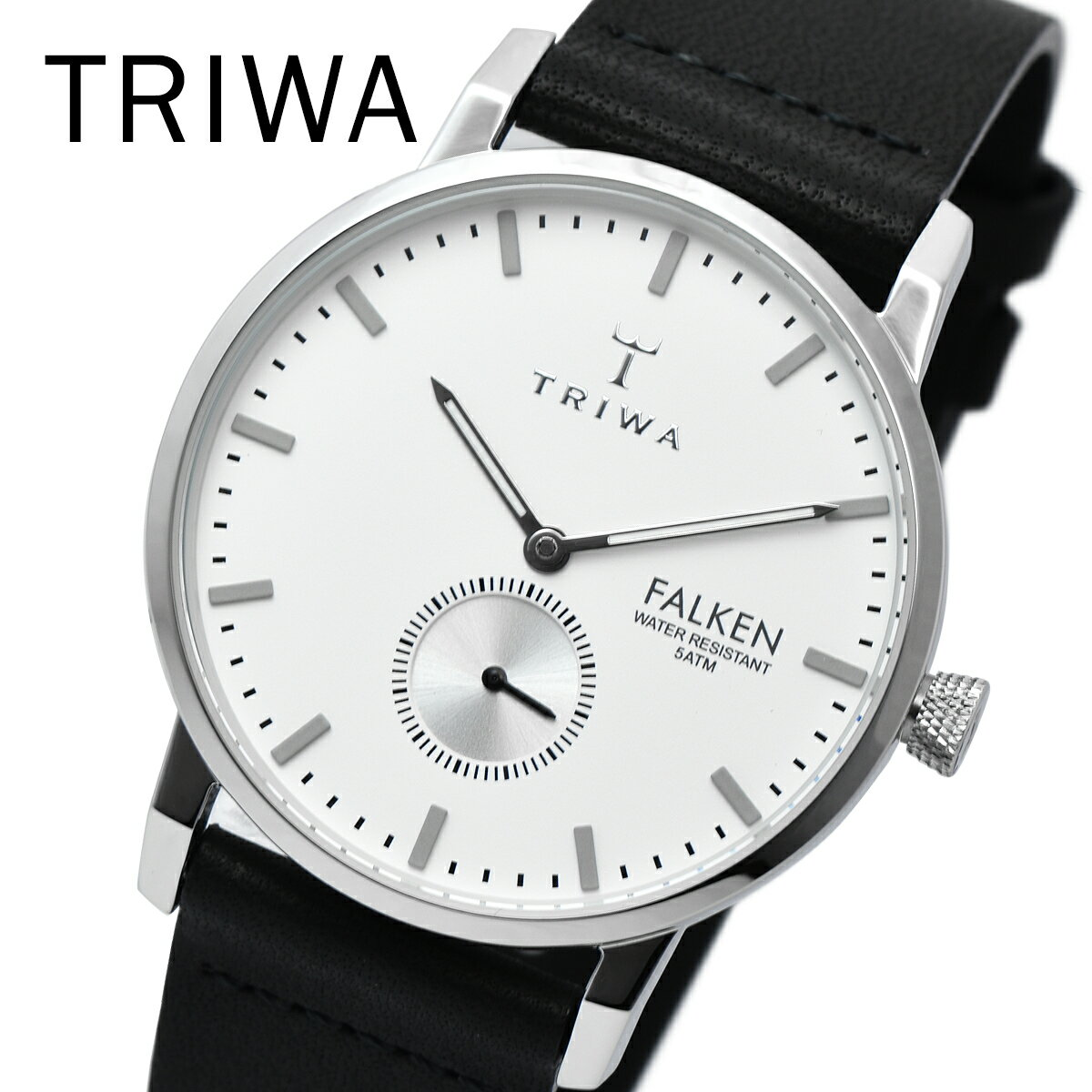 TRIWA トリワ FAST103 CL010112 IVORY FALKEN BLACK メンズ レディース ユニセックス 時計 腕時計 プレゼント 贈り物 ギフト 彼氏 フォーマル カジュアル ペアウォッチ 北欧[あす楽]