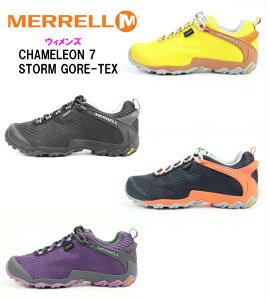MERRELL CHAMELEON7 STORM GORE-TEX メレル カメレオン セブンストーム ゴアテックス J38606 J38608 正規品 最新モデル アウトドアシューズ トレッキング 登山 普段履き レディース 婦人靴 完全防水 NEW ウ