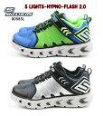 SKECHERS ボーイズ S Lights Hypno-Flash 2.0 90585L BLUE/LIME BLACK/SILVER CHARCOAL/RED スケッチャーズ 光るスニ…