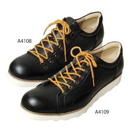 【送料無料】A4108,A4109 紳士靴 メンズ 雨靴 幅広 4E 雨に強い カジュアルシューズ ( 大きい靴 キングサイズ ビッグ 28cm,29cm,30cm カジュアル フェークレザー レースアップ ひも ) 大きいサイズ