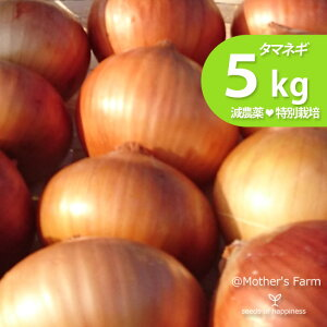 タマネギ 玉ねぎ たまねぎ 農薬90%カット 特別栽培【5kg】