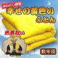 黄色い掛け綿布団(シングル)
