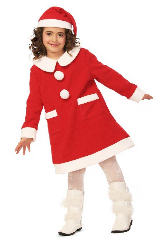 キッズワンピースサンタ 140 クリスマス コスプレ 家族クリスマス キッズ コスチューム サンタ サンタクロース 衣装