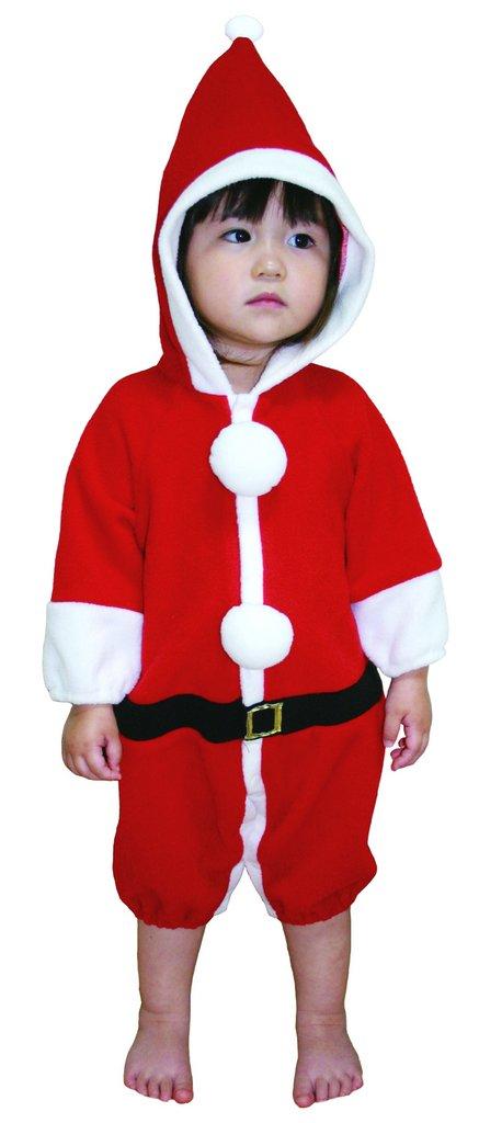 サンタカバーオール クリスマス コスプレ 家族クリスマス キッズ コスチューム サンタ サンタクロース 衣装
