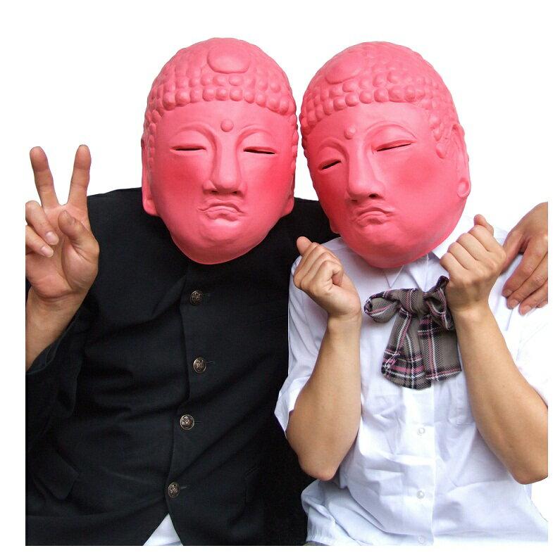 M3 ピンク大仏 かぶりもの オガワスタジオ 和風マスク