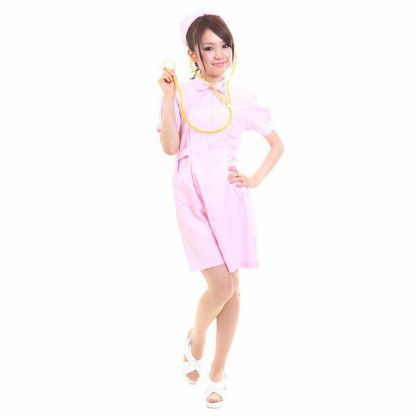 白衣の天使(ピンク) 白衣 コスプレ 看護婦 制服 ナース コスプレ