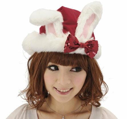うさちゃんサンタ帽子 クリスマス コスプレ コスチューム サンタ サンタクロース 衣装