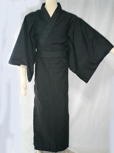 カラー着物 黒 仮装 衣装 仮装 コスチューム ジョーク衣装 パーティーグッズ コスチューム