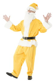 dd6c0a677c32a 楽天スーパーSALE対象 期間数量限定 送料無料 GOGOサンタさん イエロー メンズ クリスマス コスプレ