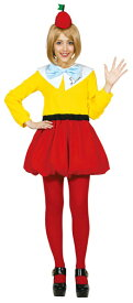大人 トゥイードルダム レディース 女性 不思議の国のアリス ディズニー 仮装 キャラクター コスチューム 変装 衣装 公式ライセンス コスプレ ハロウィン