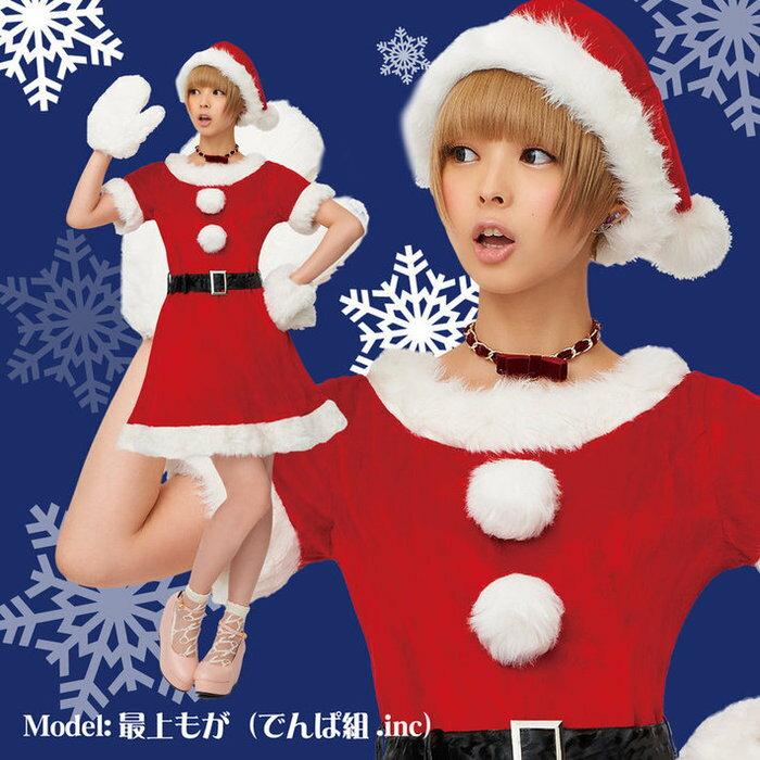 キャンディサンタ 2Lサイズ 女性用 クリスマス コスプレ サンタ 衣裳 コスチューム サンタコス サンタクロース 衣装