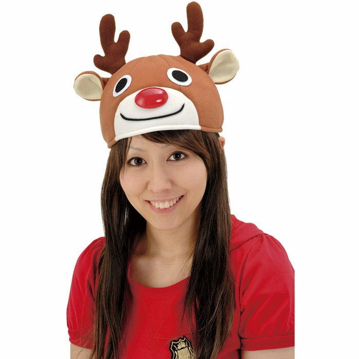 スマイルトナカイキャップ クリスマス コスプレ サンタクロース 帽子 トナカイ 衣装 コスチューム