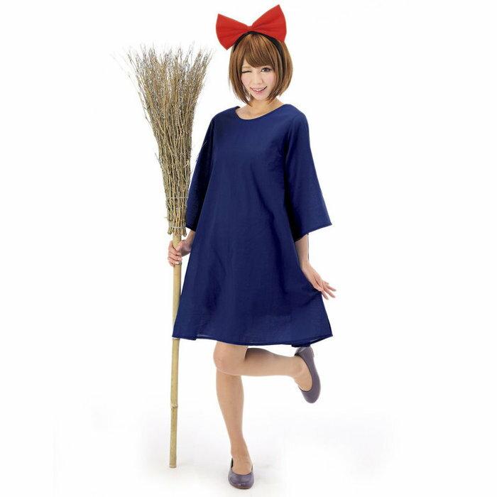 ハロウィンプレゼント付 魔女っ子ワンピ ハロウィン 大人 女性 魔女の宅急便 コスプレ ウィッチ コスチューム 衣装 変装 仮装