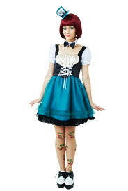 HWO ハッターガール レディース 女性 不思議の国のアリス コスプレ 仮装 アリスインワンダーランド 変装 コスチューム 衣装 ハロウィン
