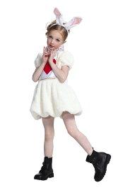ワンダーラビットガールキッズ 100 キッズ ハロウィン 女の子 不思議の国のアリス 変装 仮装 アリスインワンダーランド コスチューム 衣装