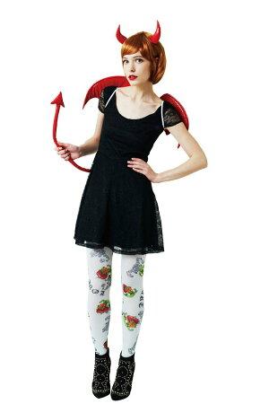 【8月下旬入荷予約】デビルパーツセット(レッド)ハロウィン仮装衣装コスチューム子供用