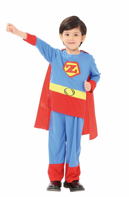 アメリカンヒーロー 120 スーパーマン キッズ 男の子 ハロウィン コスチューム 仮装 変装 衣装