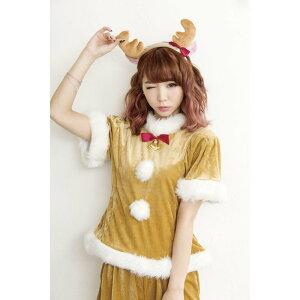 サンタコスチュームクリスマス衣装ホイップトナカイレディース女性用