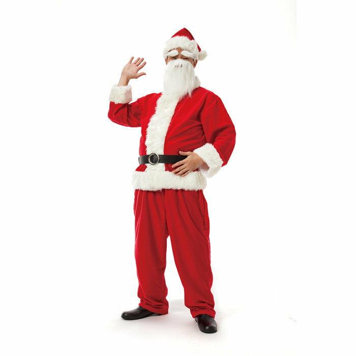 サンタクロースDX メンズ クリスマス コスプレ 家族クリスマス 男性用 サンタクロース 衣装 コスチューム