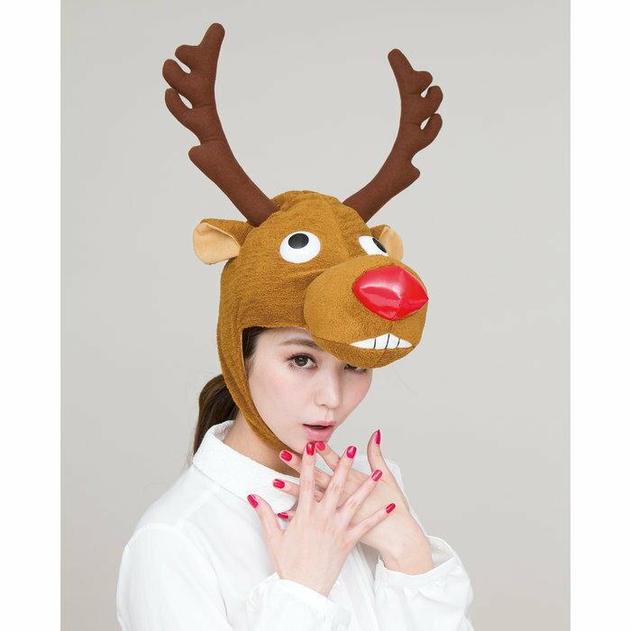 トナカイキャップ おとぼけ君 クリスマス コスプレ クリスマスグッズ サンタクロース 衣装 コスチューム