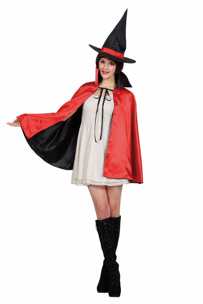 2カラーマント 大人 レッド ハロウィン 男性 女性 メンズ レディース ケープ コスプレ 変装 コスチューム 仮装 衣装