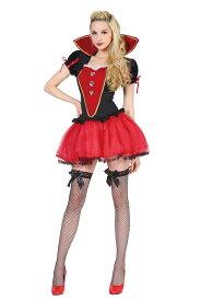 HWO マジカルレッドクイーン 女性 レディース ニーソックス付き 仮装 王様 女王様 コスチューム ハロウィン 変装 コスプレ 衣装