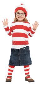 在庫限り 子供 ウェンダM 120-140cm対応 女の子 ウォーリーをさがせ ハロウィン 公式ライセンス キャラクター コスチューム 仮装 変装 衣装 コスプレ