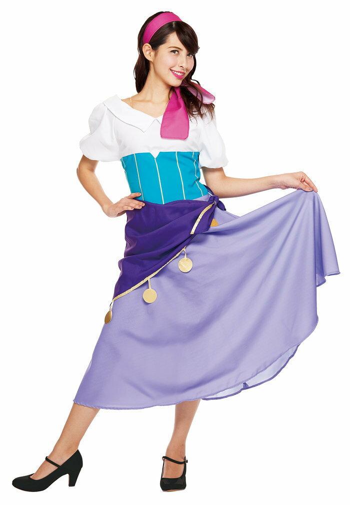 送料無料 大人用エスメラルダ レディース 女性 ノートルダムの鐘 DISNEY ディズニー ハロウィン 衣装 コスチューム コスプレ 仮装