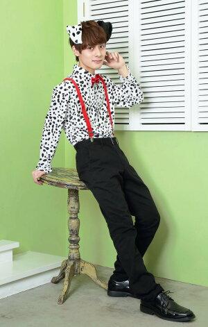 ハロウィンHWダルメシアンシャツユニセックスメンズレディース女性用ハロウィン衣装コスチューム仮装コスプレアニマル