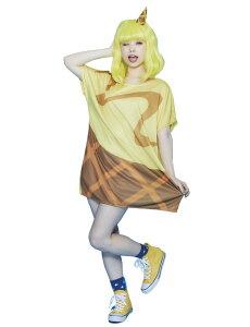 HWO ハロウィン POP ICE ハニーバナナ ウィッグ+コスチューム レディーズ 女性用 衣装 コスプレ 仮装 コスチューム ハロウィン