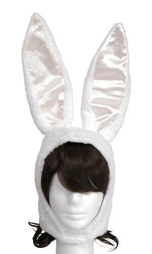 イースターパステルバニーかぶりものホワイト仮装コスチュームコスプレイースターエッグ