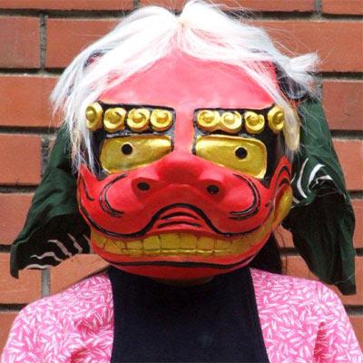 獅子舞マスク かぶりもの マスク オガワスタジオ 和風マスク
