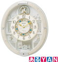 [新品][送料無料] セイコー からくり 掛時計 RE576A 電波クロック スワロフスキー・クリスタル使用 アイボリーマーブル