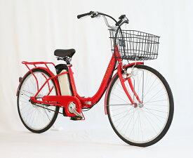 大容量リチウムイオンバッテリー搭載!折り畳み26インチモペット版電動自転車[軽風26]、カゴ付き