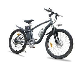 ★アルザン モペット型MTB電動自転車「フォルスト3」24インチSHIMANO製6段変速ギア搭載 ディスクブレーキ装着
