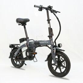 電動自転車(モペット版)とても軽量ハイパワーモーター 折りたたみ可能フルアルミ 48V10AH版大容量リチウムイオン電池 10AH搭載「SMART-PLUS」 14インチ