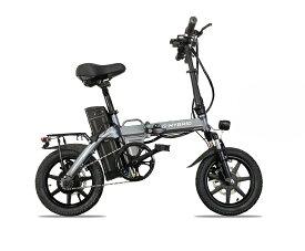 フル電動自転車(モペット版)軽量ハイパワーモーター 折りたたみ可能フルアルミ 48V版大容量リチウムイオン電池「SMAR」14インチ,スマホホルダー付き