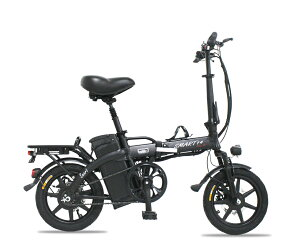 電動自転車(モペット版)とても軽量ハイパワーモーター 折りたたみ可能フルアルミ 48V版大容量リチウムイオン電池 12AH搭載「SMART-PLUS-B」 14インチ