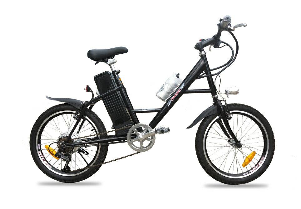 アルザン モペット電動自転車 X-STYLE 20インチ ミニマウンテンバイクタイプ LED照明付 SHIMANO製6段変速機付
