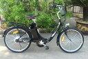★新型発売・楽々坂道!折り畳み★モペット型電動自転車E-BIKE24(24インチ)