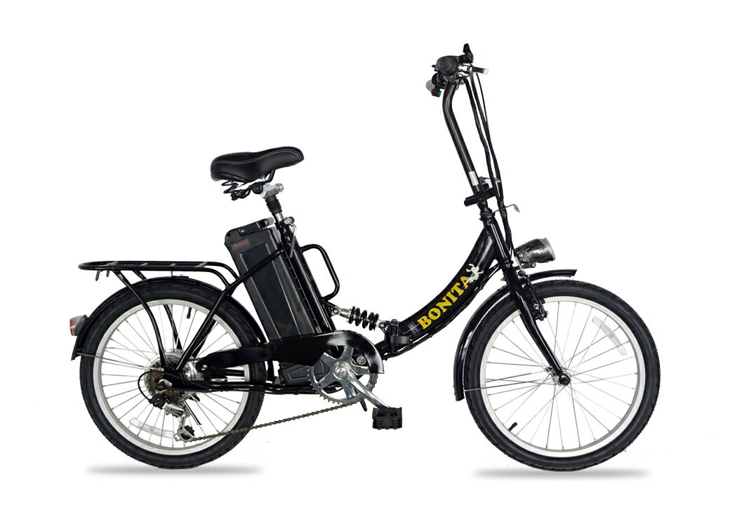 アルザン モペット版電動自転車 E-BIKE20PLUS SHIMANO製6段変速付 専用布カゴ付 LED照明付 折りたたみタイプ 20インチ
