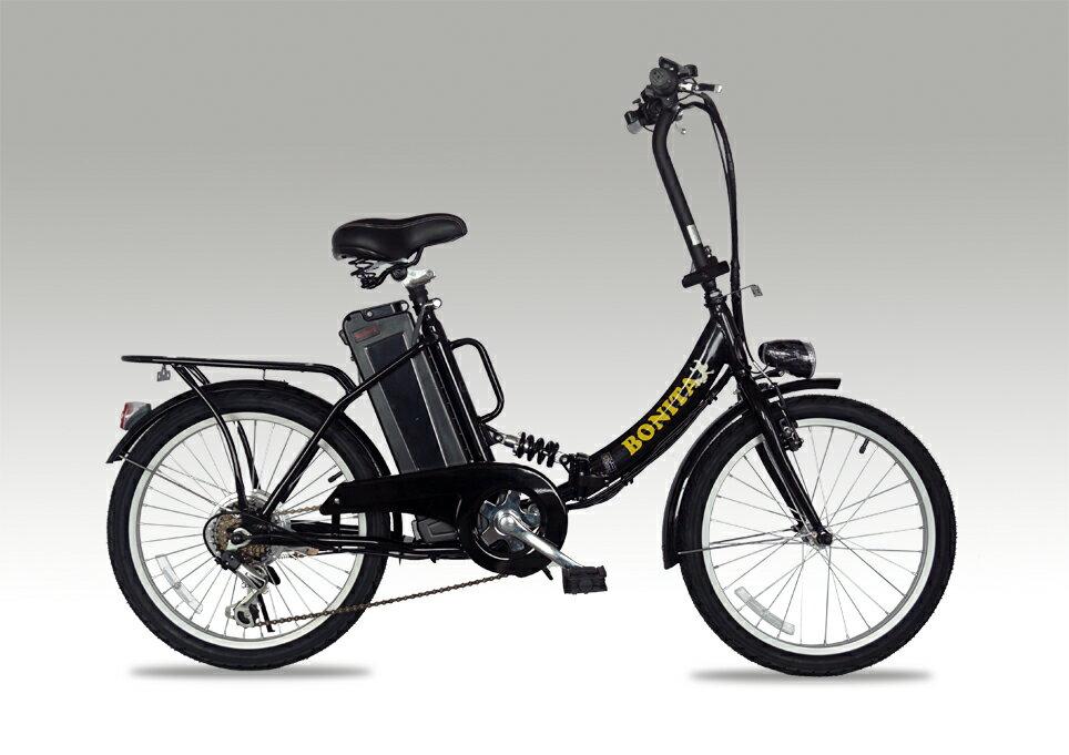 新発売!モペット型電動自転車E-BIKE20_PLUSブラス_6段変速付き(20インチ)専用布カゴ付き